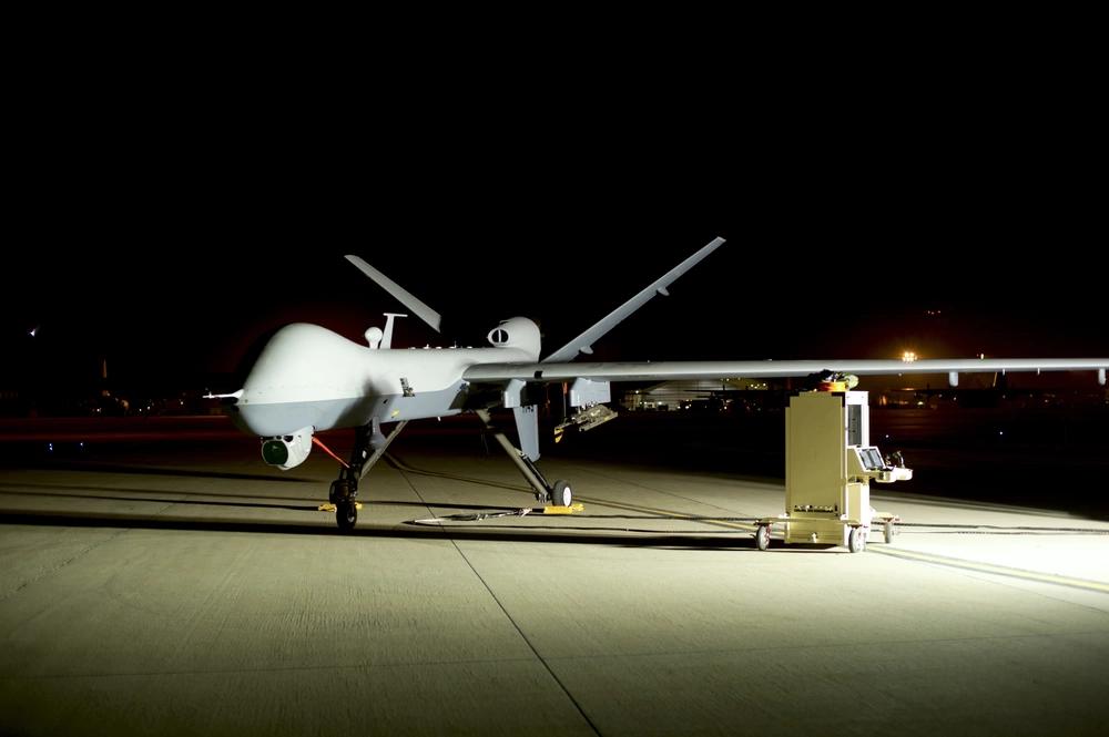 """MQ-9 """"Reaper"""" drone on a U.S. military base"""
