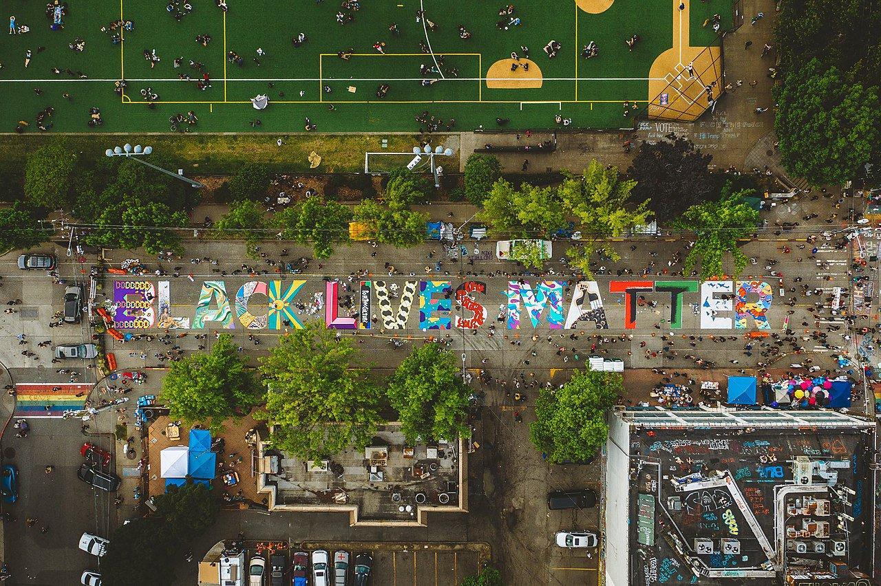 Black Lives Matter mural in Seattle, Washington