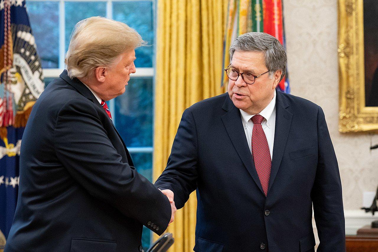 Donald Trump and Attorney General William Barr