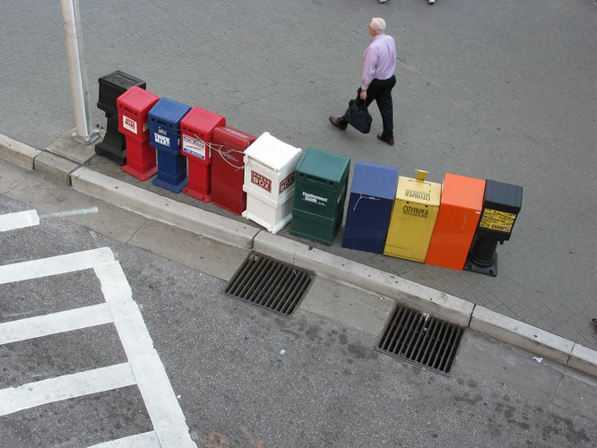 Newspaper vending boxes