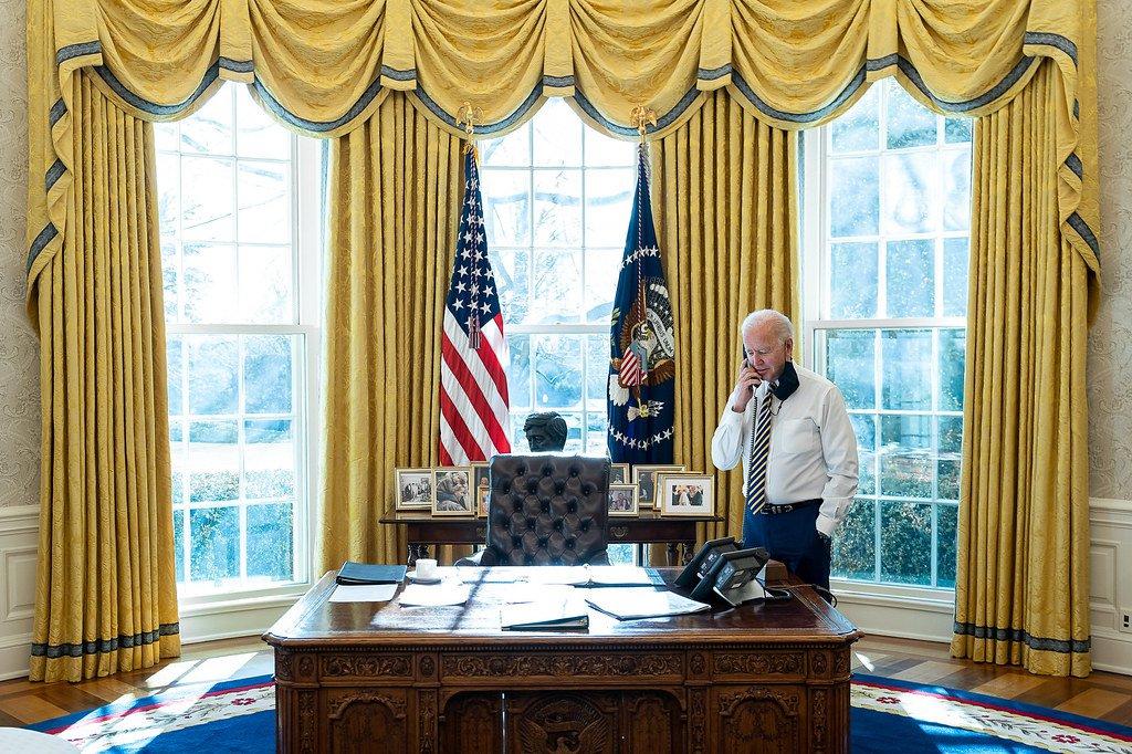 President Biden at his desk
