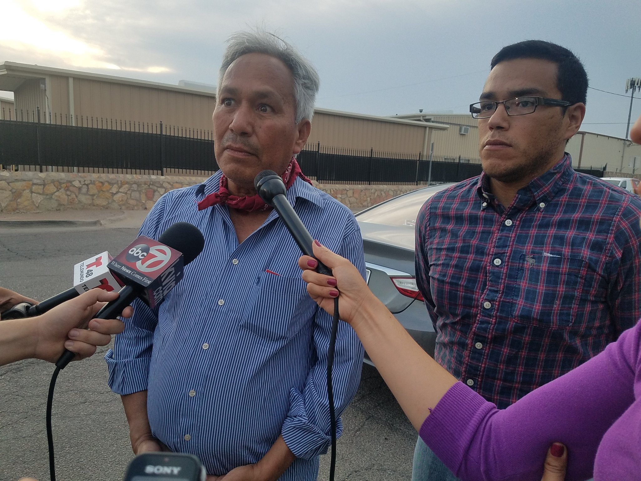 Gutiérrez and Oscar after release