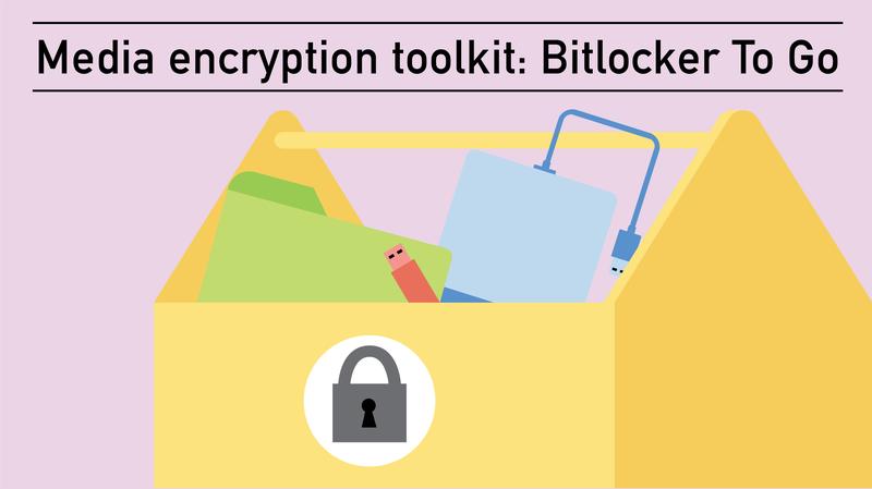 Media encryption toolkit: BitLocker To Go