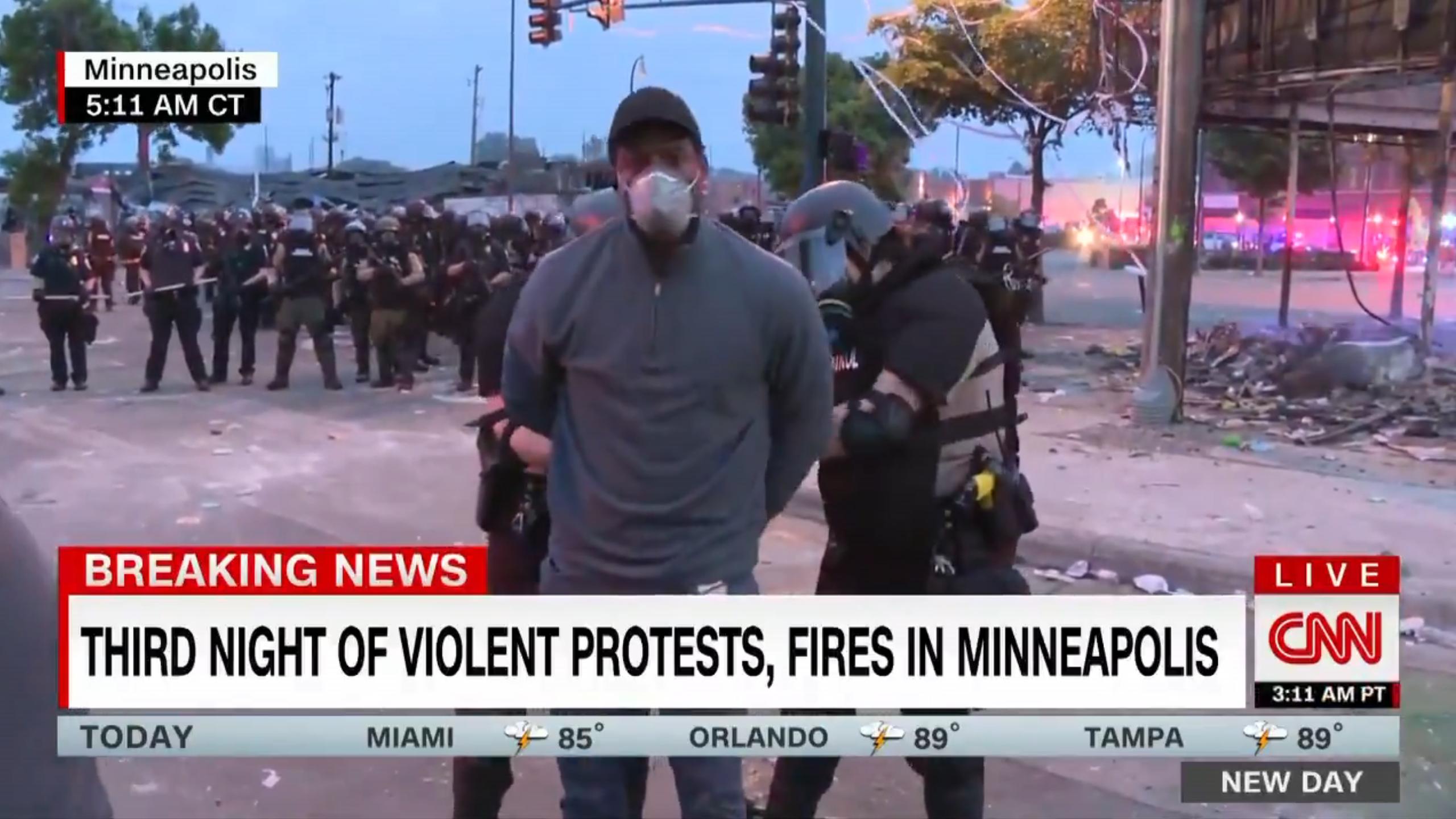 CNN arrest screenshot