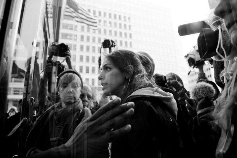 Antiwar Demonstrators by Geoff King