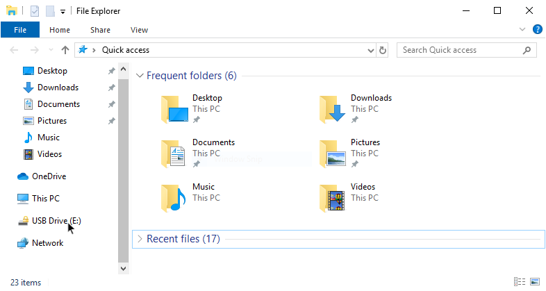 Windows explorer window showing encrypted USB drive in sidebar