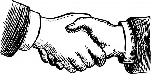 A header image of a handshake