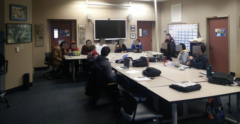 Header image showing students at a San Jose State University journalism course