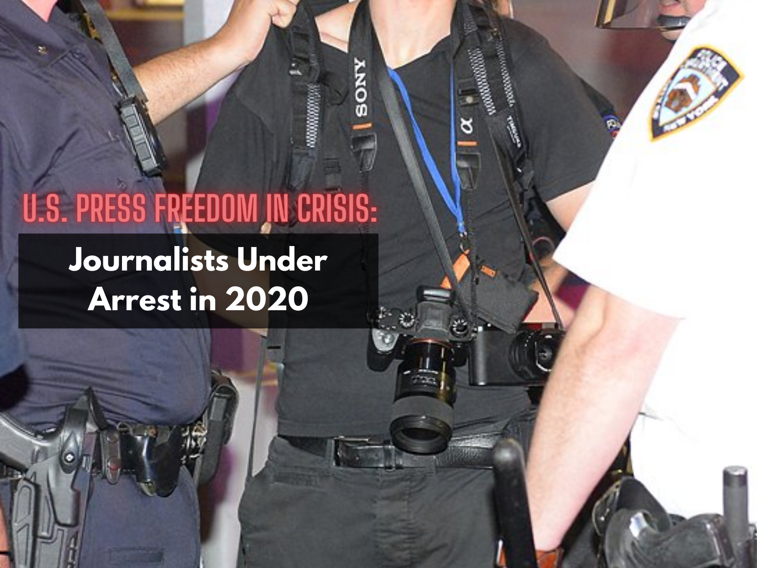 Journalists Under Arrest 2020 report cover section