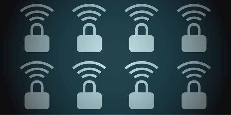 Header image showing wi-fi signal and lock icons.