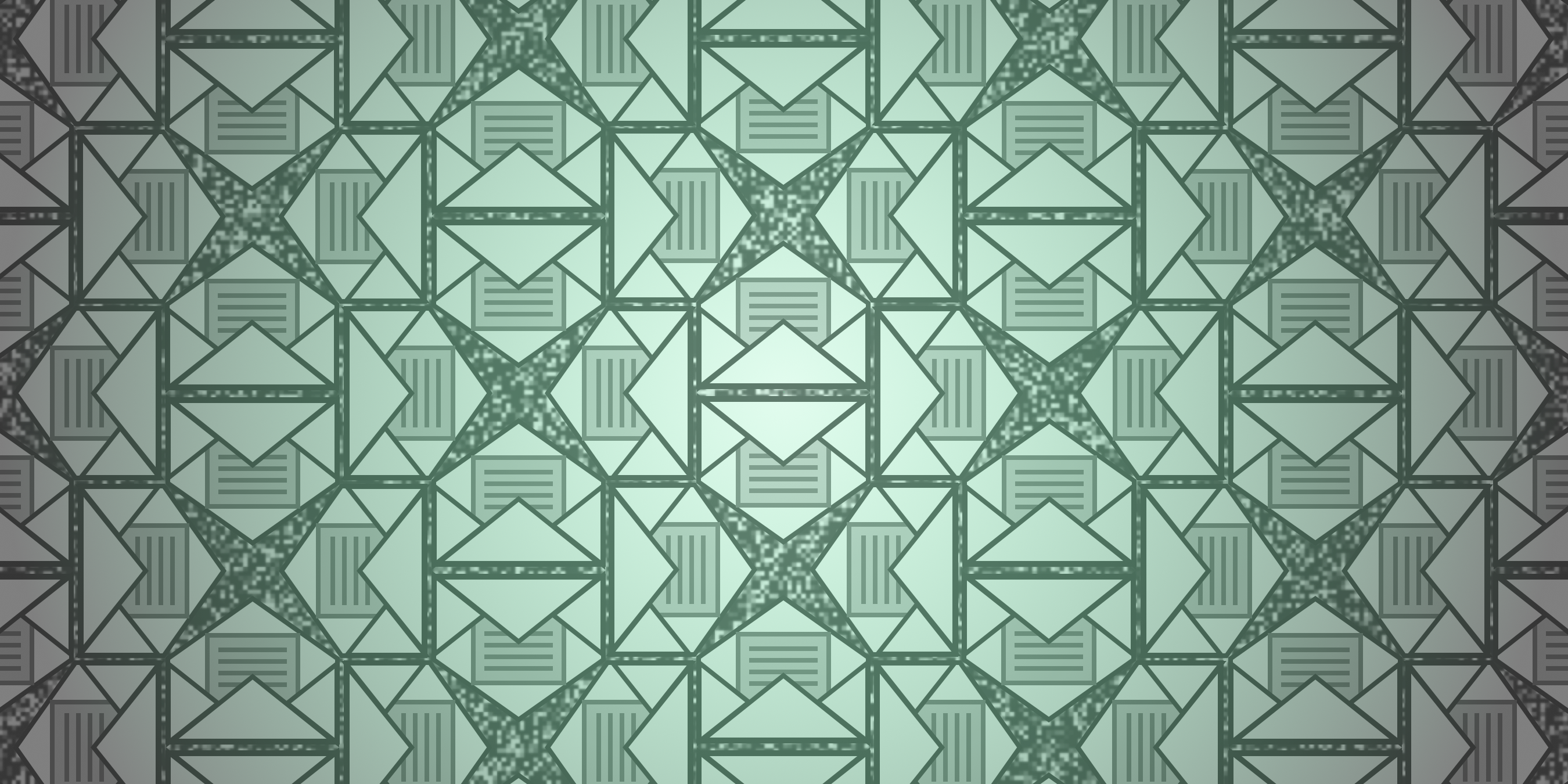 Header image showing pattern of mail envelope icons